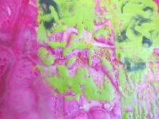 close up Encaustic Neon